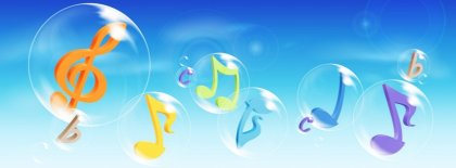 Music And Bubbles Facebook Covers